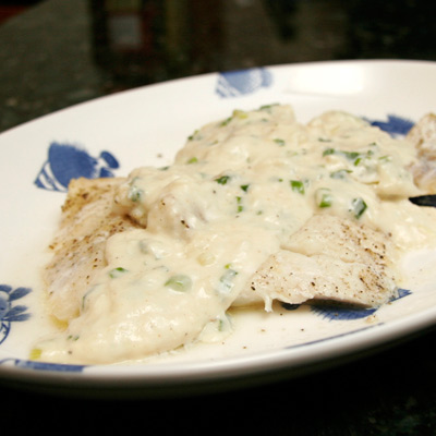 haddock with sauce