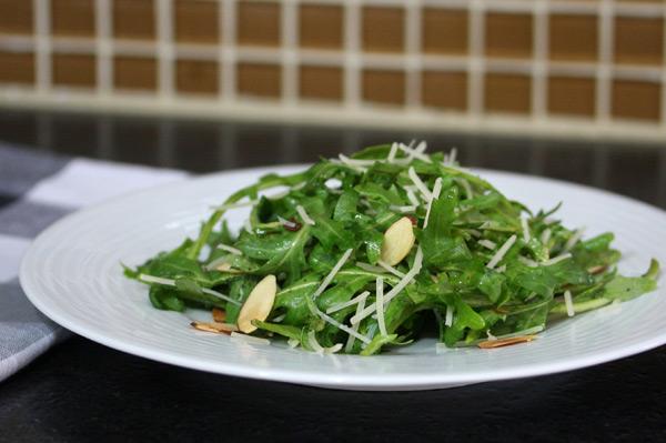 baby arugula or kale salad