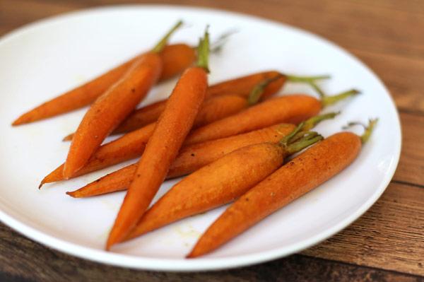 simple orange glazed carrots