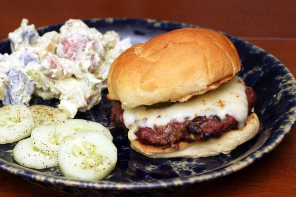 Tex-Mex Beef and Bean Burgers Recipe