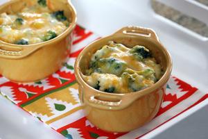 broccoli rice casseroles, single-serve