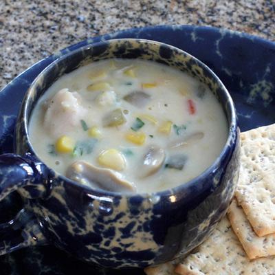 clam chowder with corn