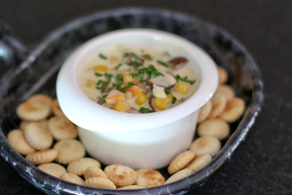 corn chowder with smoked sausage