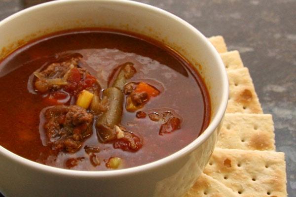 vegetable beef soup, slow cooker