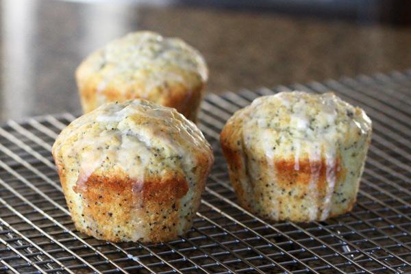 Glazed Poppy Seed Muffins