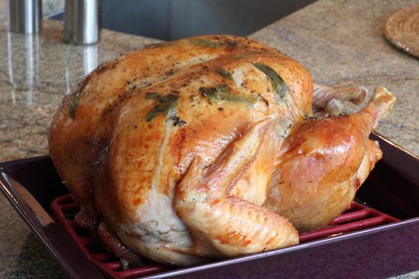 roasted turkey with sage