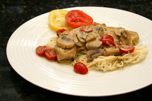 turkey cutlets basil pesto sauce
